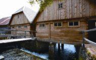 Gacka – Village houses at the river Gacka